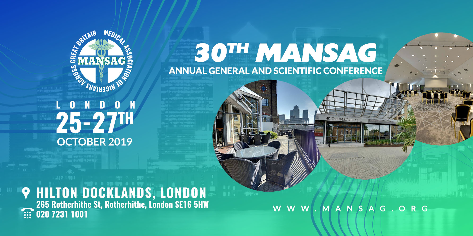 30th MANSAG Annual General and Scientific Conference, London, 25-27th October 2019