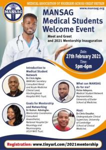 MANSAG Medical Student Welcome Event